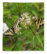 Western Tiger Swallowtail Butterflies Fleece Blanket