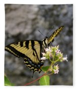 Western Tiger Swallowtail Butterfly 2 Fleece Blanket