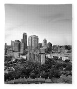 Western View Of Austin Skyline Fleece Blanket