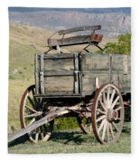 Western Wagon Fleece Blanket