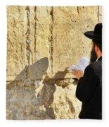 Western Wall Prayer Fleece Blanket