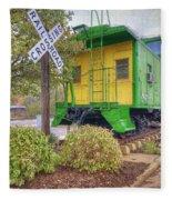 Weston Railroad Crossing Fleece Blanket