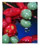 Wet Berries Fleece Blanket