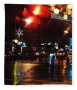 Wet City Fleece Blanket