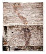 Wet Feet Prints Fleece Blanket