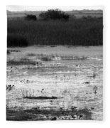 Wet Landscape Fleece Blanket