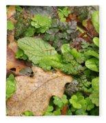 Wet Leaves Fleece Blanket