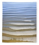 Wet Sand Texture On Ocean Shore Fleece Blanket