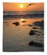 Wet Sunset Fleece Blanket