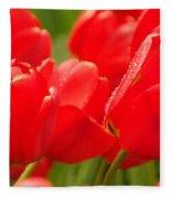 Wet Tulips Fleece Blanket