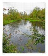 Wetland Greens Fleece Blanket
