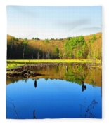 Wetland Morning Calm Fleece Blanket