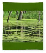 Wetland Reflection Fleece Blanket