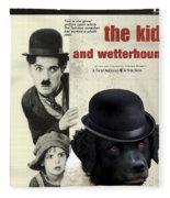 Wetterhoun-frisian Water Dog Art Canvas Print - The Kid Movie Poster Fleece Blanket