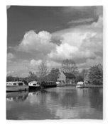 Wey Canal Ripley Surrey Fleece Blanket