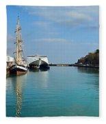 Weymouth Harbour Fleece Blanket