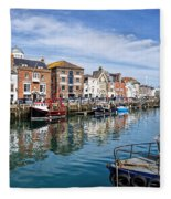 Weymouth Harbour Fleece Blanket
