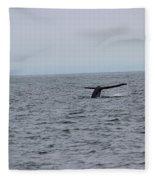 Whale Tail 2 Fleece Blanket