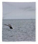Whale Tail 8 Fleece Blanket