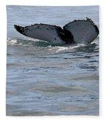 Whale Tail Fleece Blanket