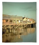Fishermans Wharf Monterey California Fleece Blanket