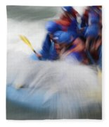 White Water Rafting What A Rush Fleece Blanket