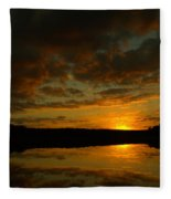 What A Sunset Fleece Blanket