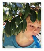 What Boys Are Made Of - Trees And Music Fleece Blanket