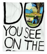 What Do You See On The Other Side Fleece Blanket