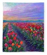 Tulip Fields, What Dreams May Come Fleece Blanket