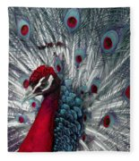 What If - A Fanciful Peacock Fleece Blanket