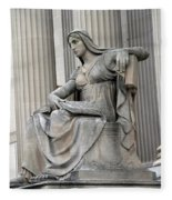 What Is Past Is Prologue Statue At National Archives -- 2 Fleece Blanket