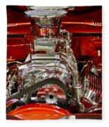What Is Under The Hood-red Customized Retro Pontiac Fleece Blanket