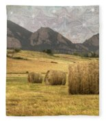 What The Hay Fleece Blanket