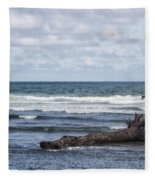 What The Sea Brought Back Fleece Blanket