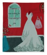 Whatever I Was Looking For Was Always You - Rumi Quote Fleece Blanket