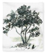 Studying The Menu Fleece Blanket