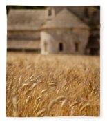 Wheat At The Abbaye Fleece Blanket
