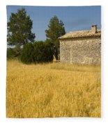 Wheat Field, France Fleece Blanket