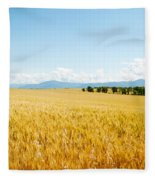 Wheat Field Near D8, Brunet, Plateau De Fleece Blanket