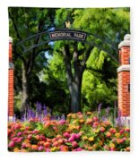 Wheaton Memorial Park Fleece Blanket