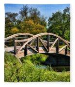 Wheaton Northside Park Bridge Fleece Blanket