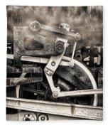 Wheel And Steam Fleece Blanket