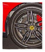 Wheel Of A Ferrari Fleece Blanket