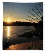 Wheel Of The Sun Fleece Blanket