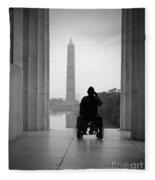 Wheelchair Vet Salute Fleece Blanket