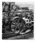 Wheels Gears And Cogs Fleece Blanket