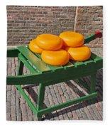 Wheels Of Dutch Gouda Cheese Fleece Blanket