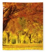 When Autumn Leaves Fall Fleece Blanket