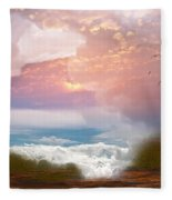 When Heaven Breaks - Surrealism Fleece Blanket